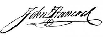 Unterschrift John Hancock