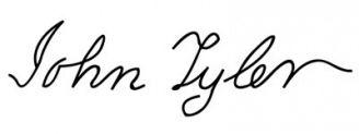 Unterschrift John Tyler