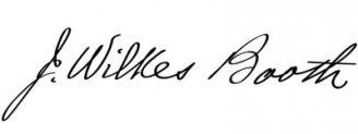 Unterschrift John Wilkes Booth