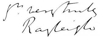 Unterschrift John William Strutt