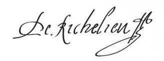 Unterschrift Kardinal Richelieu