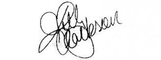Unterschrift Kelly Clarkson