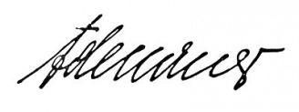 Unterschrift Konrad Adenauer