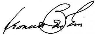 Unterschrift Leonard Bernstein
