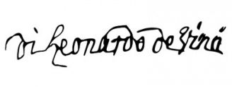 Unterschrift Leonardo da Vinci