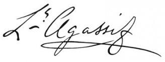 Unterschrift Louis Agassiz