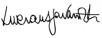 Unterschrift Luciano Pavarotti