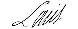 Unterschrift Ludwig XVI.