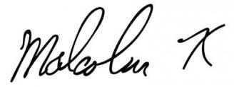 Unterschrift Malcolm X