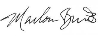 Unterschrift Marlon Brando