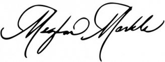 Unterschrift Meghan