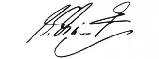 Unterschrift Michael Schumacher