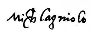 Unterschrift Michelangelo Buonarroti