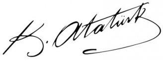 Unterschrift Mustafa Kemal Atatürk