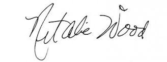 Unterschrift Natalie Wood