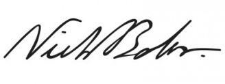 Unterschrift Niels Bohr