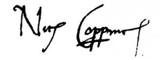 Unterschrift Nikolaus Kopernikus