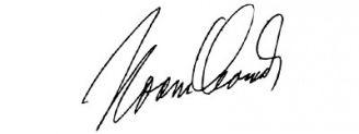 Unterschrift Noam Chomsky