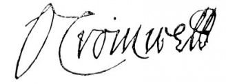 Unterschrift Oliver Cromwell