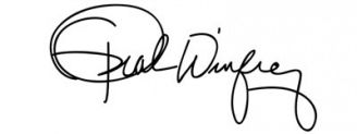 Unterschrift Oprah Winfrey