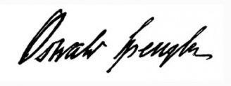 Unterschrift Oswald Spengler