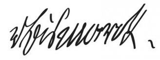 Unterschrift Otto von Bismarck
