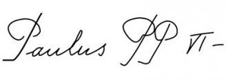 Unterschrift Paul VI.