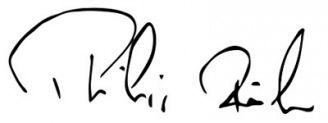 Unterschrift Philipp Rösler