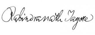 Unterschrift Rabindranath Tagore