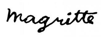 Unterschrift René Magritte