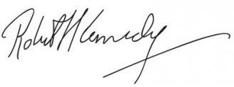 Unterschrift Robert Kennedy