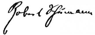 Unterschrift Robert Schumann