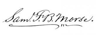 Unterschrift Samuel F. B. Morse