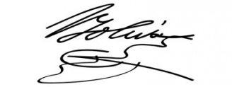 Unterschrift Simón Bolívar