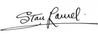 Unterschrift Stan Laurel