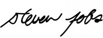 Unterschrift Steve Jobs