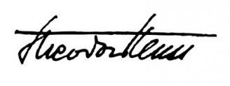 Unterschrift Theodor Heuss