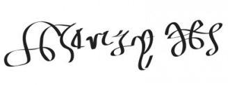 Unterschrift Theodosius I. der Große