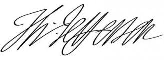 Unterschrift Thomas Jefferson