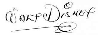 Unterschrift Walt Disney