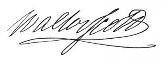 Unterschrift Walter Scott