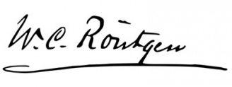 Unterschrift Wilhelm Conrad Röntgen
