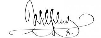 Unterschrift Wilhelm II.