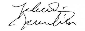 Unterschrift Yehudi Menuhin